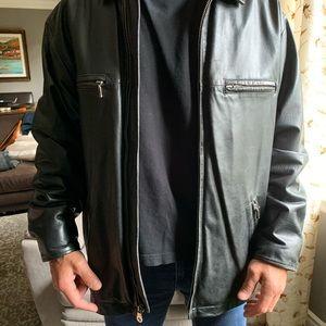 Men's medium leather jacket